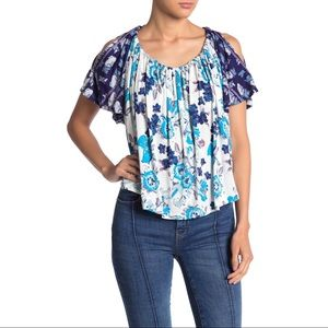 NWT FREE PEOPLE | Baja Babe Cold Shoulder Blouse